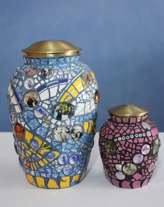 Personalized Urns By Sybil Sage Mosaics Photos Names